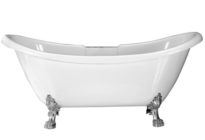 Acrylic Bathtub With Lion Paw Feet and No Faucet Holes