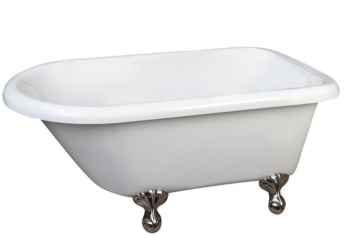 Acrylic Bathtub With 7 Rim Holes Ball and Claw Feet