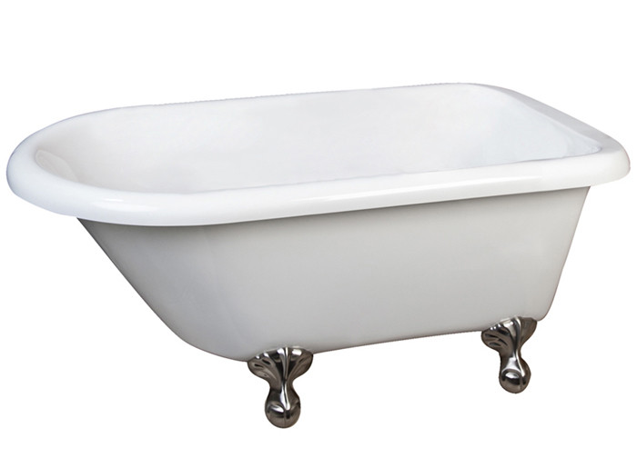Barclay Alexia ATRN53-WH 53 Inch Acrylic Bathtub With No Faucet Holes Ball and Claw Feet