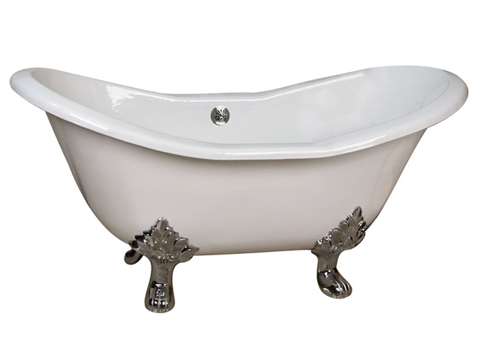 Cast Iron Double Bathtub With 7 Inch Rim Holes Lion Paw Feet