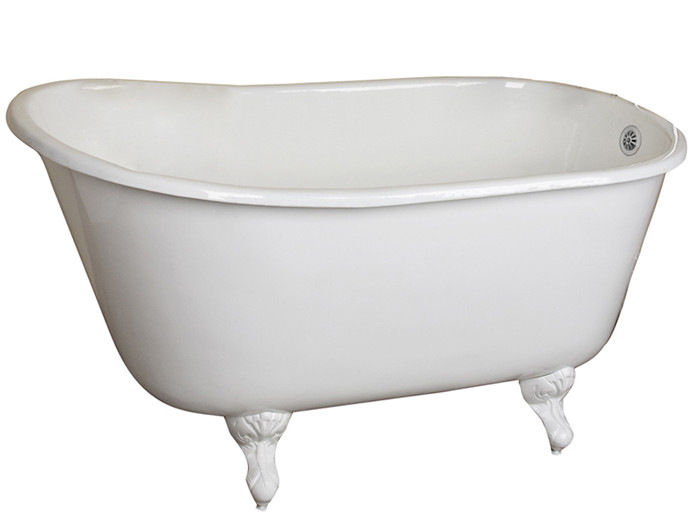 Cast Iron Bathtub With No Faucet Holes Ball and Claw Feet