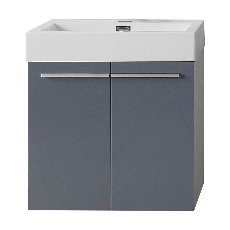 Virtu JS-50124-GR-PRTSET1 Midori 24 Inch Single Bathroom Vanity Set In Grey