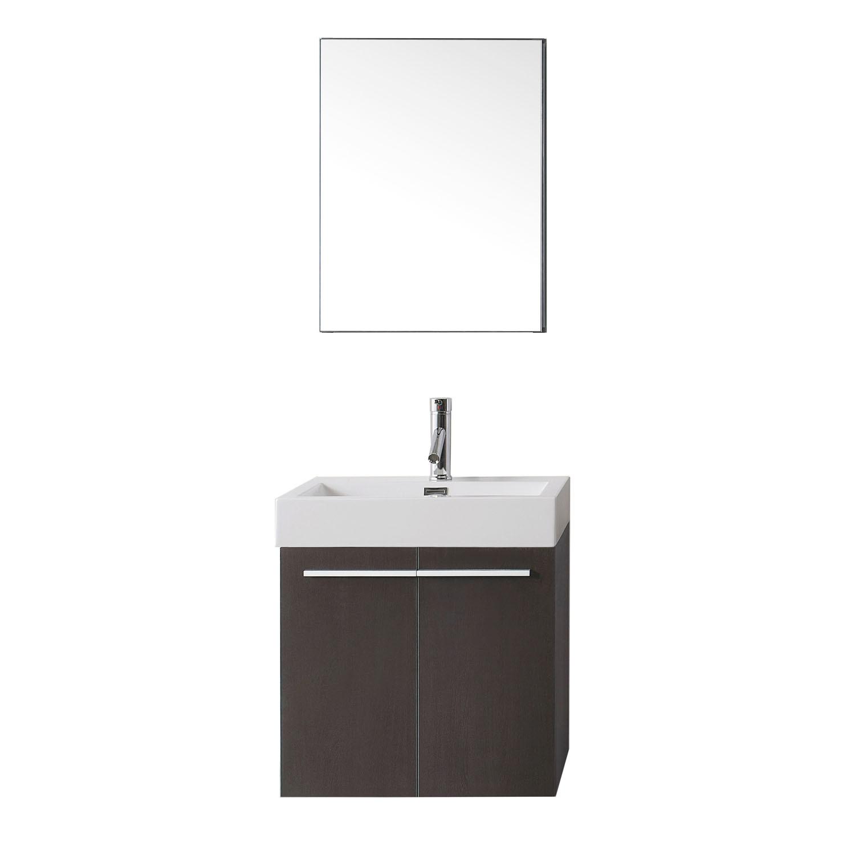 Virtu JS-50124-WG-001 Midori 24 Inch Single Bathroom Vanity Set In Wenge