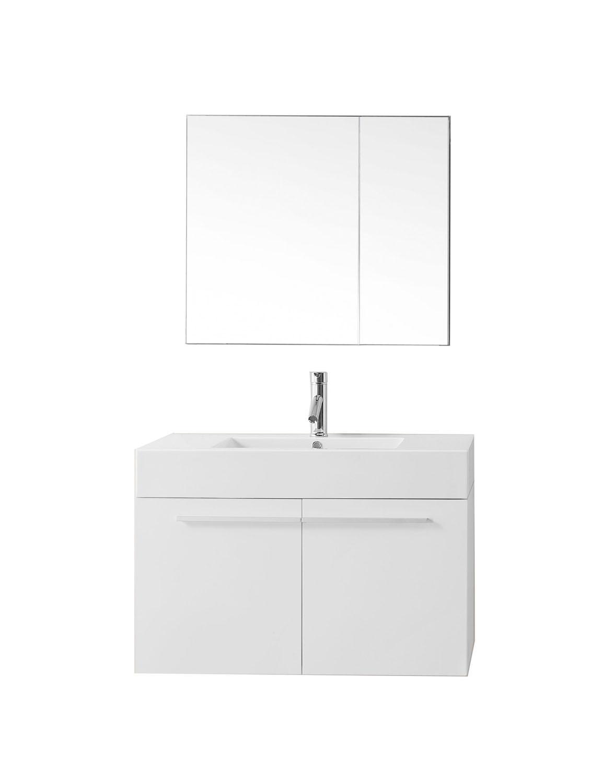 Virtu JS-50136-GW-001 Midori 36 Inch Single Bathroom Vanity Set In Gloss White