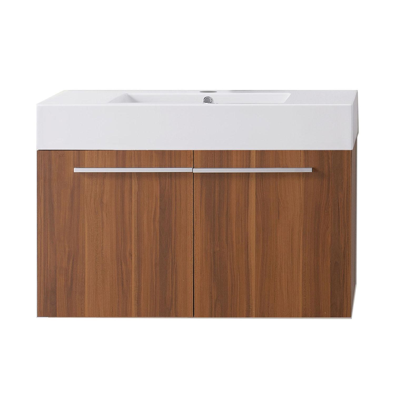 Virtu JS-50136-PL-PRTSET1 Midori 36 Inch Single Bathroom Vanity Set In Plum