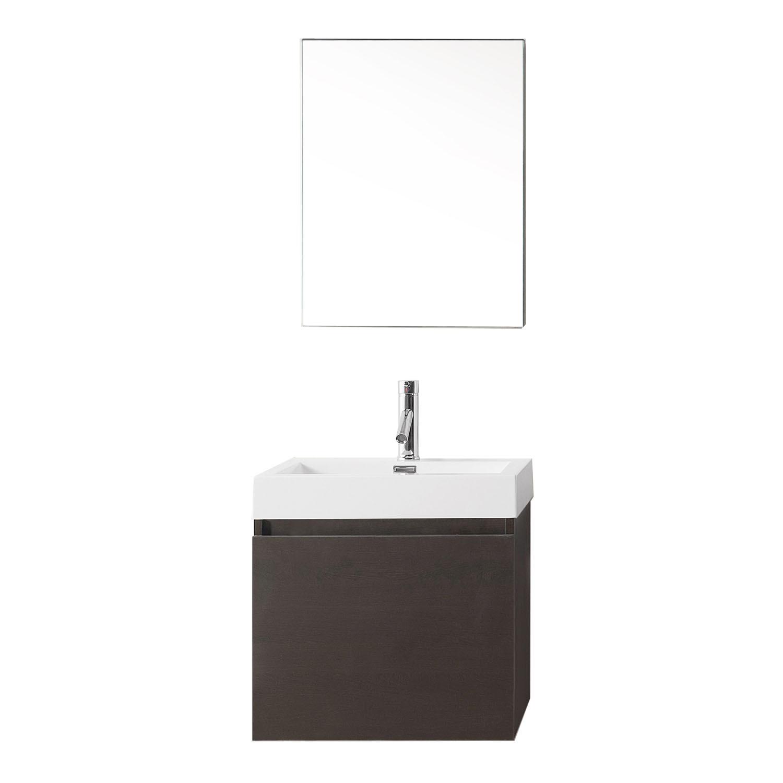 Virtu JS-50324-WG-001 Zuri 24 Inch Single Bathroom Vanity Set In Wenge