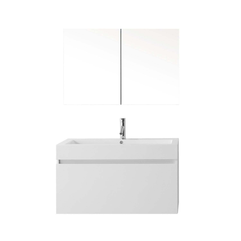 Virtu JS-50339-GW-001 Zuri 39 Inch Single Bathroom Vanity Set In Gloss White