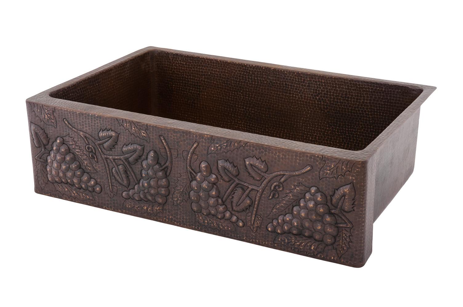 KASDB33229G Decorative Copper Farm Sink