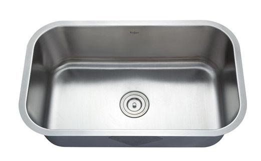 Kraus KBU14 31.5 inch Undermount Single Bowl Stainless Steel Kitchen Sink