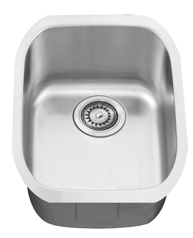 Kraus KBU16 18 inch Undermount Single Bowl Stainless Steel Kitchen Sink