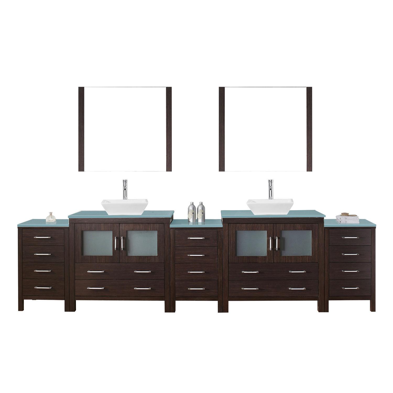 Virtu KD-700126-G-ES Dior 126 Inch Double Bathroom Vanity Set In Espresso