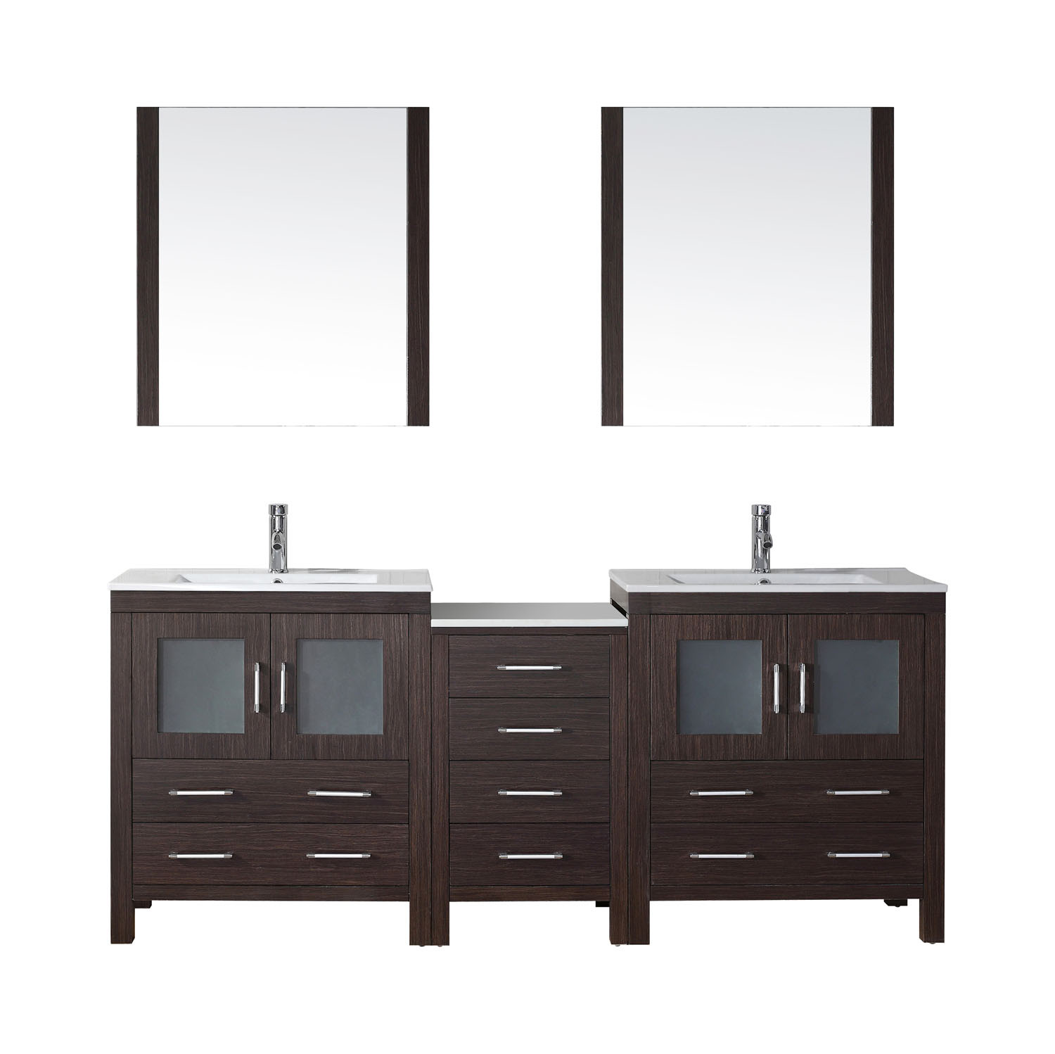 Virtu KD-70078-C-ES-001 Dior 78 Inch Double Bathroom Vanity Set In Espresso