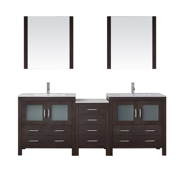 Virtu KD-70082-C-ES-001 Dior 82 Inch Double Bathroom Vanity Set In Espresso