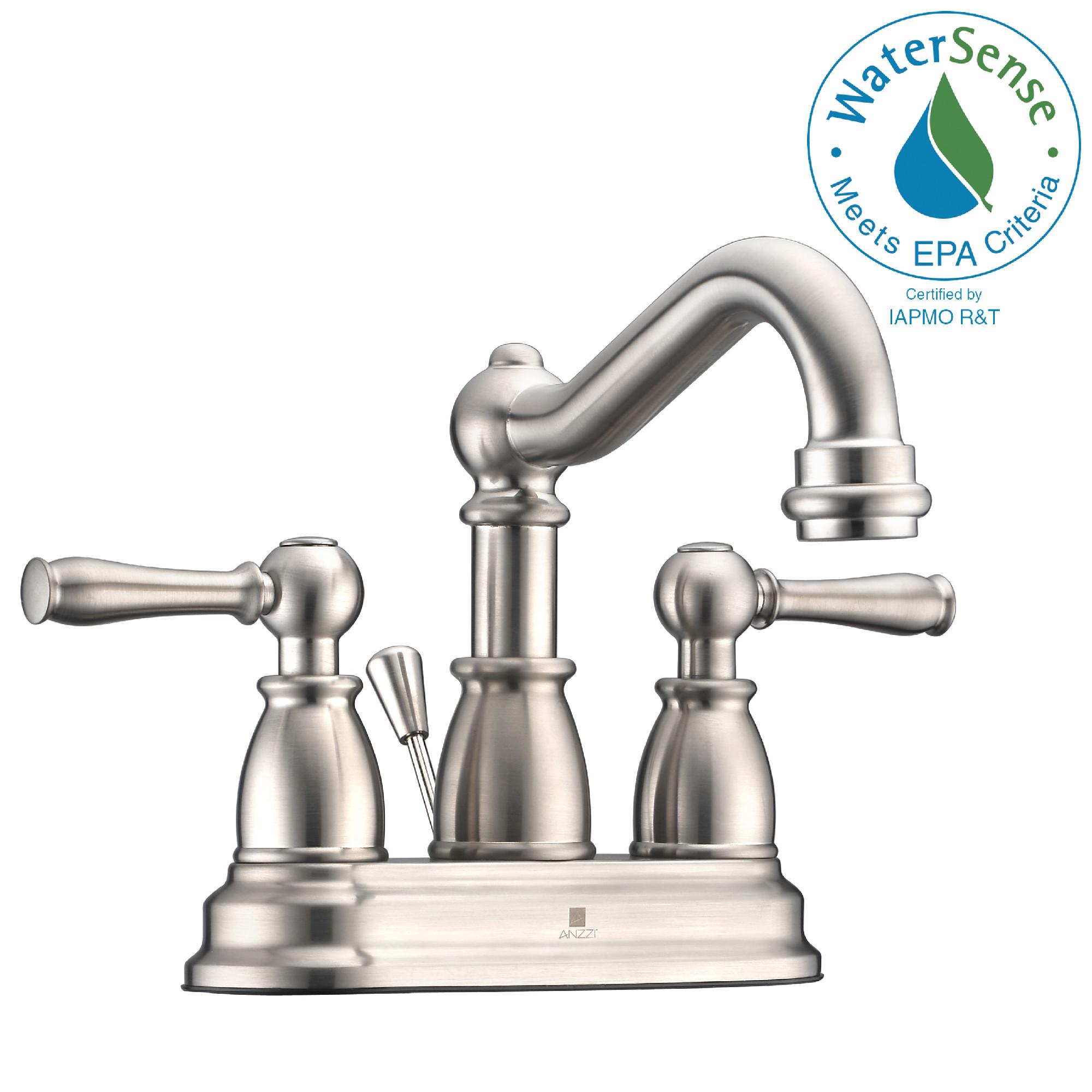 ANZZI KF-AZ151 Edge Centerset Mid-Arc Bathroom Faucet In Brushed Nickel