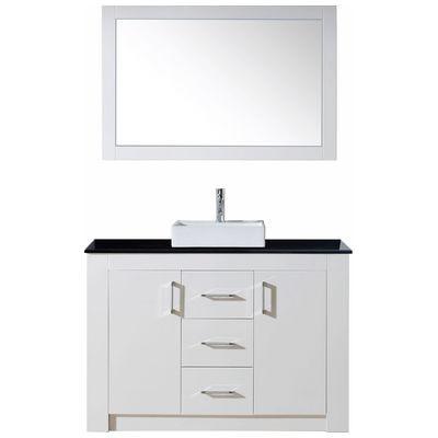 Virtu KS-60048-GW Tavian 48 Inch Single Bathroom Vanity Set In Gloss White