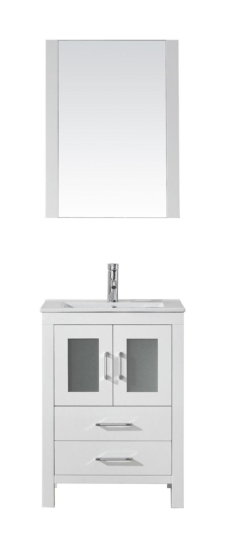 Virtu KS-70024-C-WH-001 Dior 24 Inch Single Bathroom Vanity Set In White