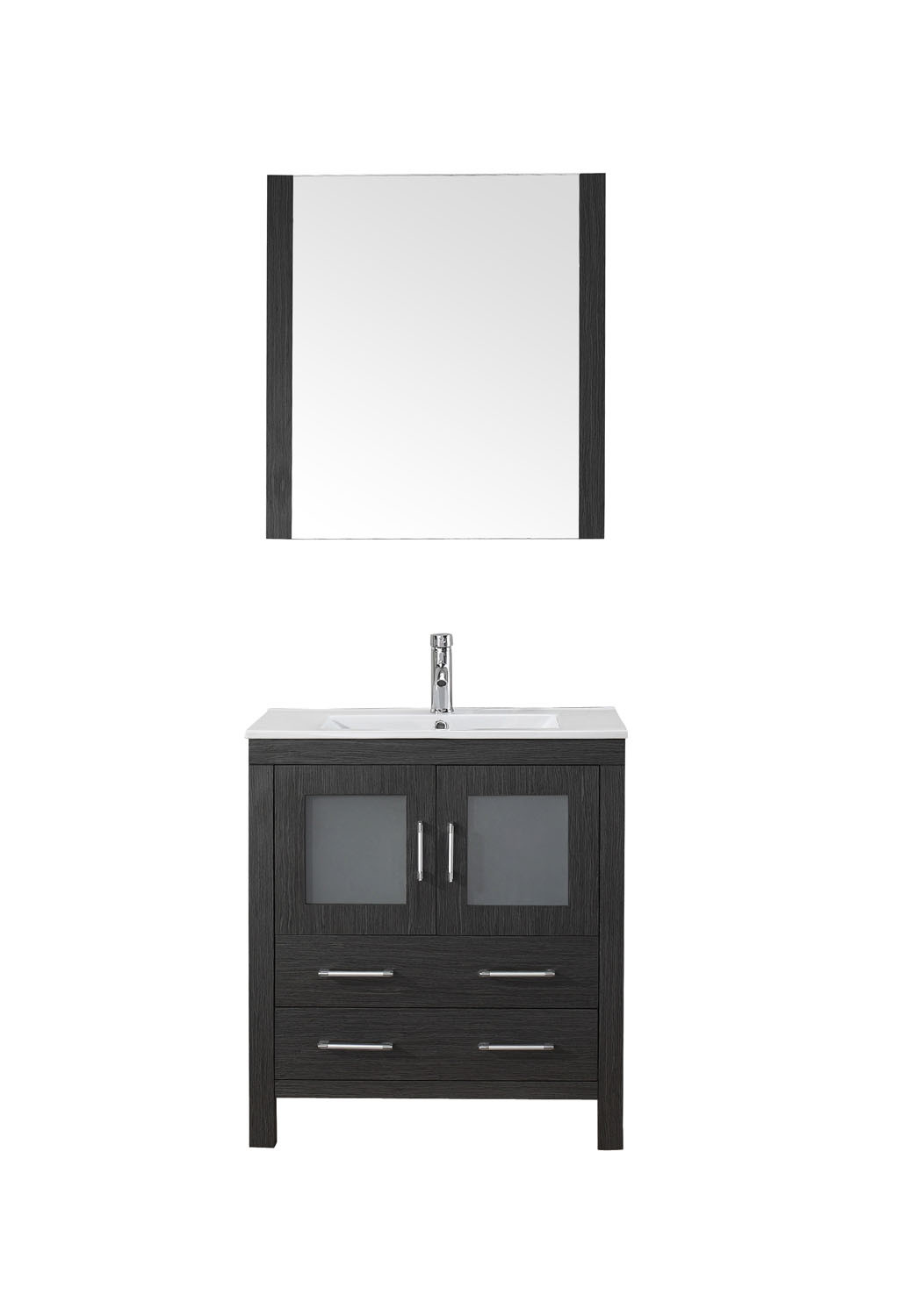 Virtu KS-70030-C-ZG-001 Dior 30 Inch Single Bathroom Vanity Set In Zebra Grey