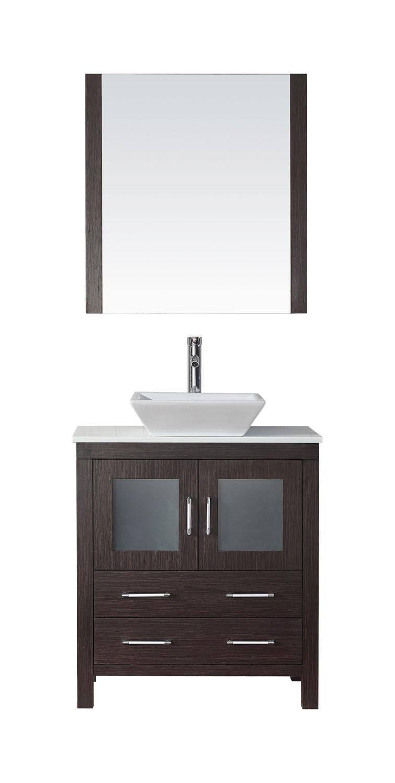Virtu KS-70030-S-ES Dior 30 Inch Single Bathroom Vanity Set In Espresso