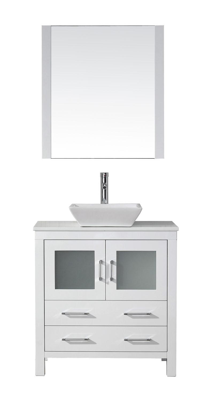 Virtu KS-70032-S-WH-001 Dior 32 Inch Single Bathroom Vanity Set In White