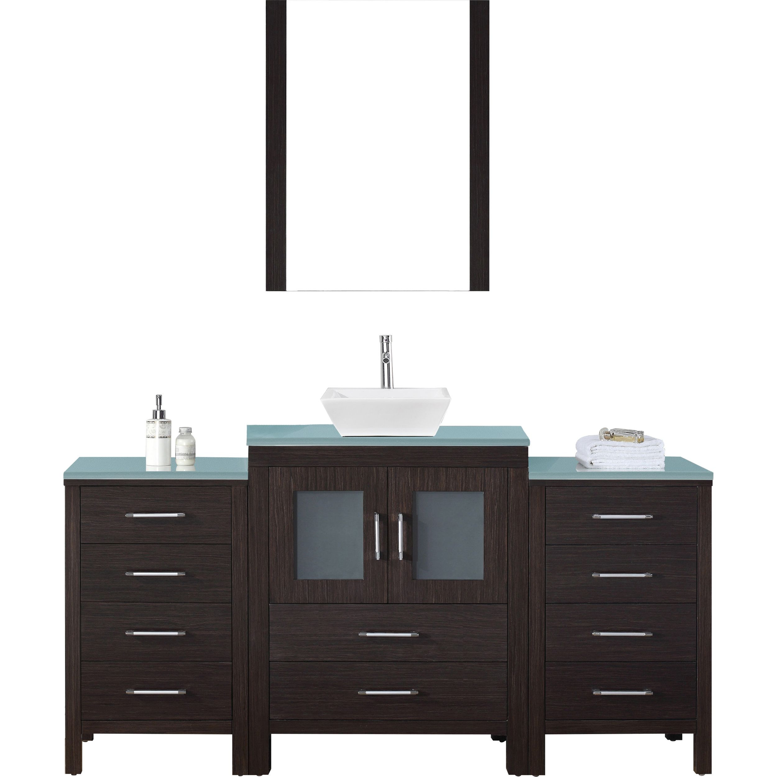 Virtu KS-70064-G-ES Dior 64 Inch Single Bathroom Vanity Set In Espresso