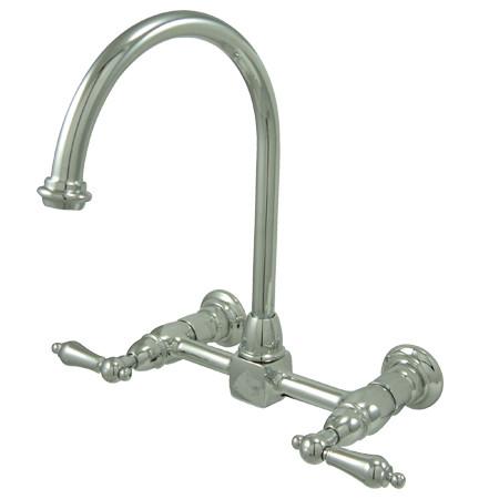 Kingston Brass KS129.AL Two Handle Wall-Mount Kitchen Faucet
