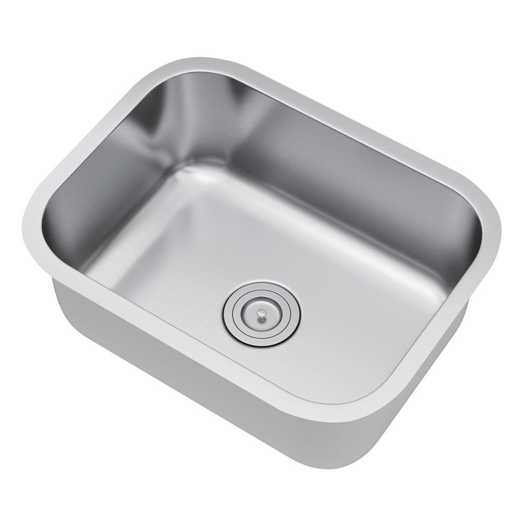 Exclusive Heritage KSD-2318-S-UBS Single Bowl Kitchen Sink with Strainer