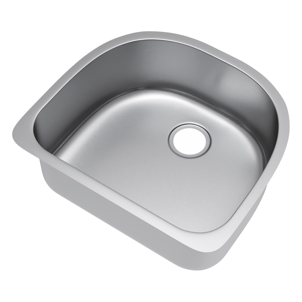 Exclusive Heritage KSD-2421-S-UB Single Bowl Stainless Steel Kitchen Sink