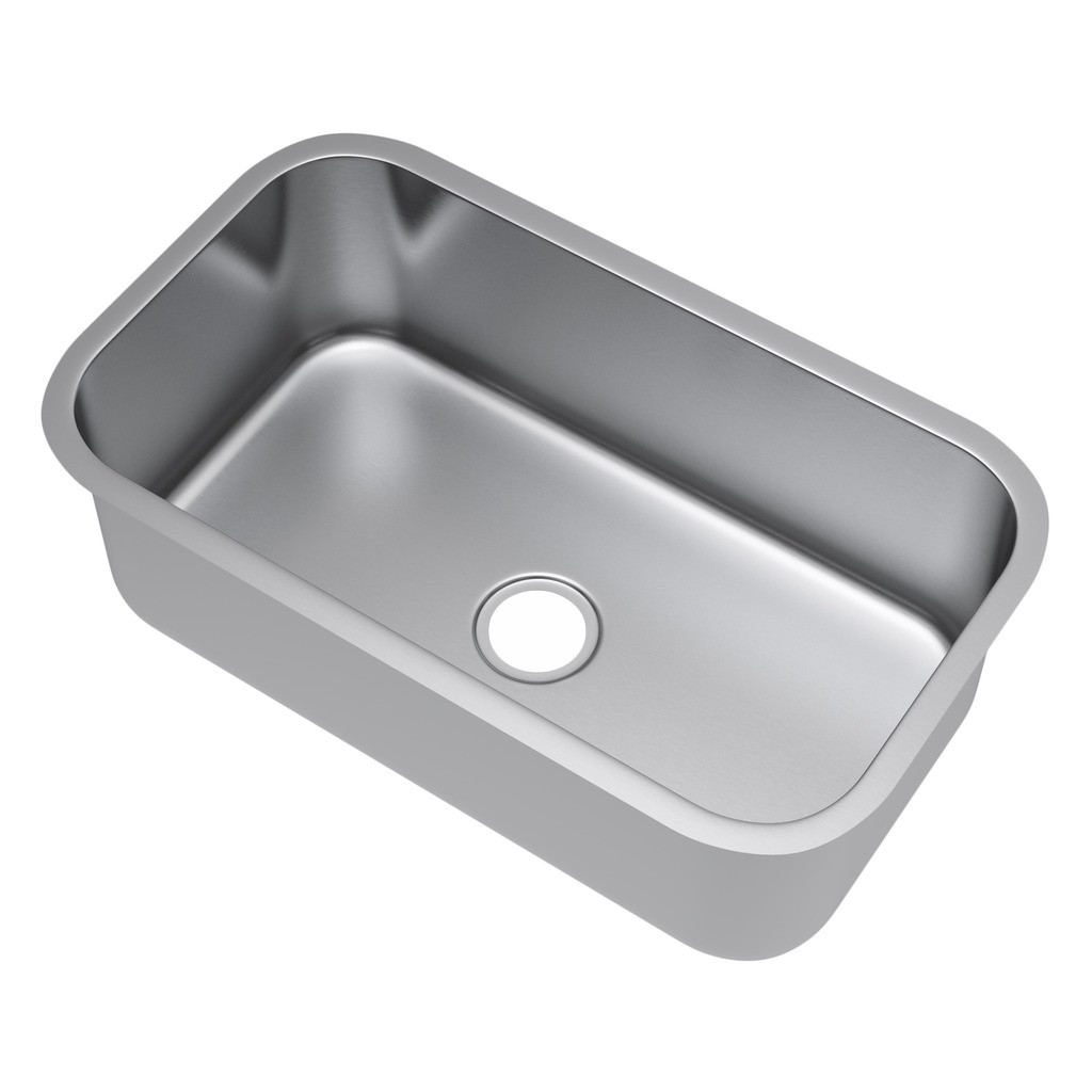Exclusive Heritage KSD-3219-S-UB Single Bowl Stainless Steel Kitchen Sink