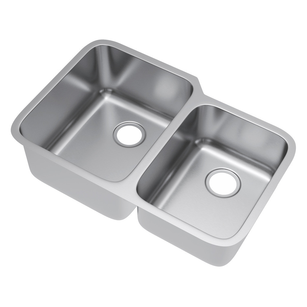 Exclusive Heritage KSD-3221-D6-UA Double 60/40 Stainless Steel Kitchen Sink