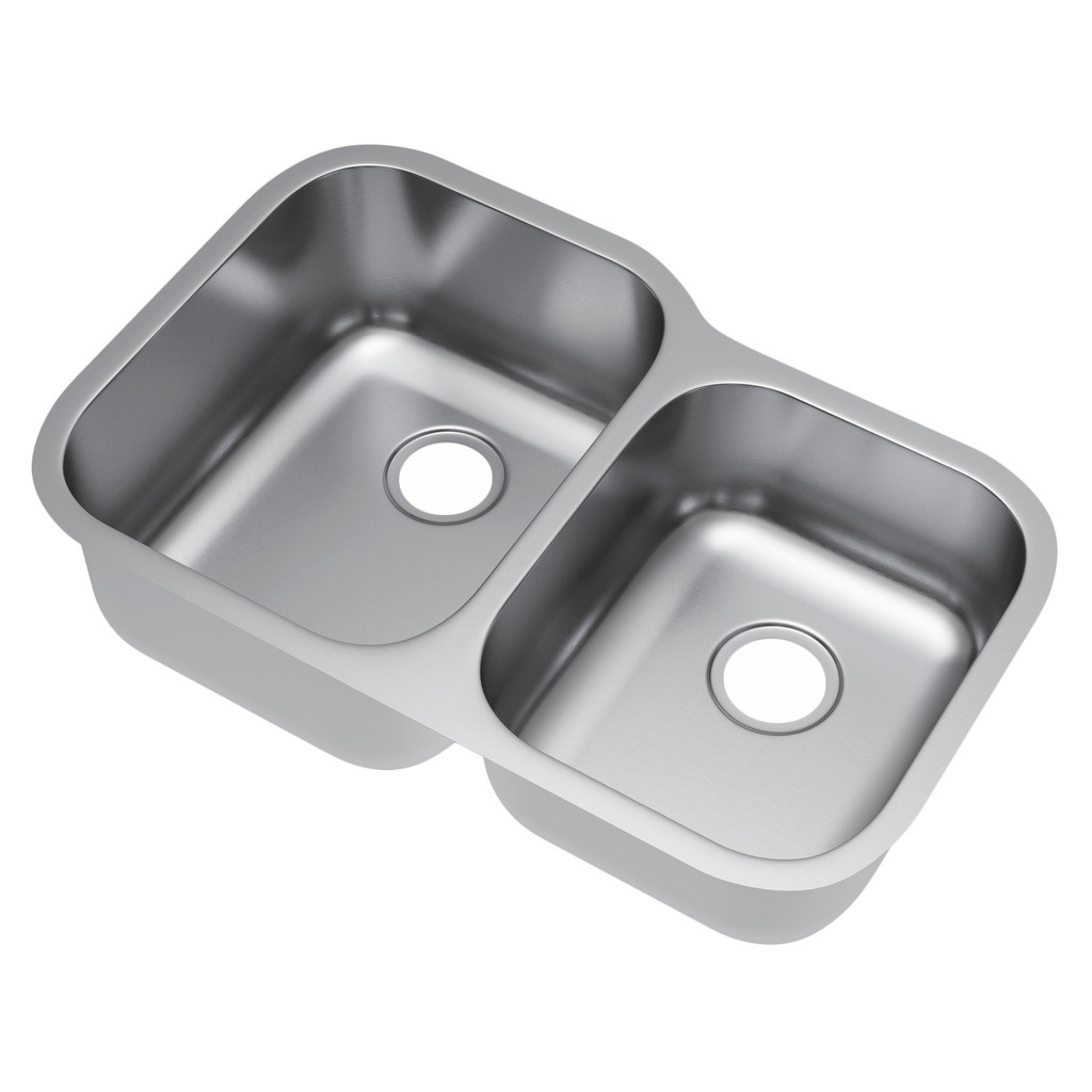 Exclusive Heritage KSD-3221-D6-UB Double 60/40 Stainless Steel Kitchen Sink