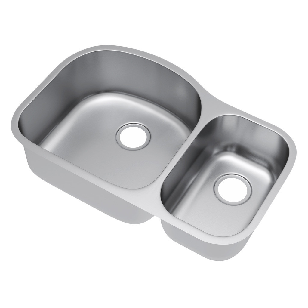 Exclusive Heritage KSD-3221-D7-UB Double 70/30 Stainless Steel Kitchen Sink