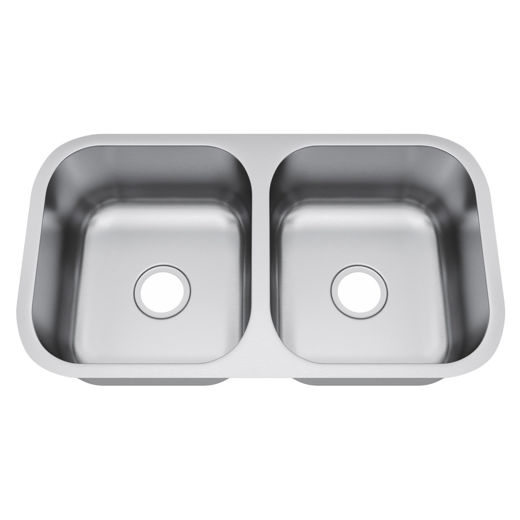 Exclusive Heritage KSD-3318-D5-UB Double 50/50 Stainless Steel Kitchen Sink