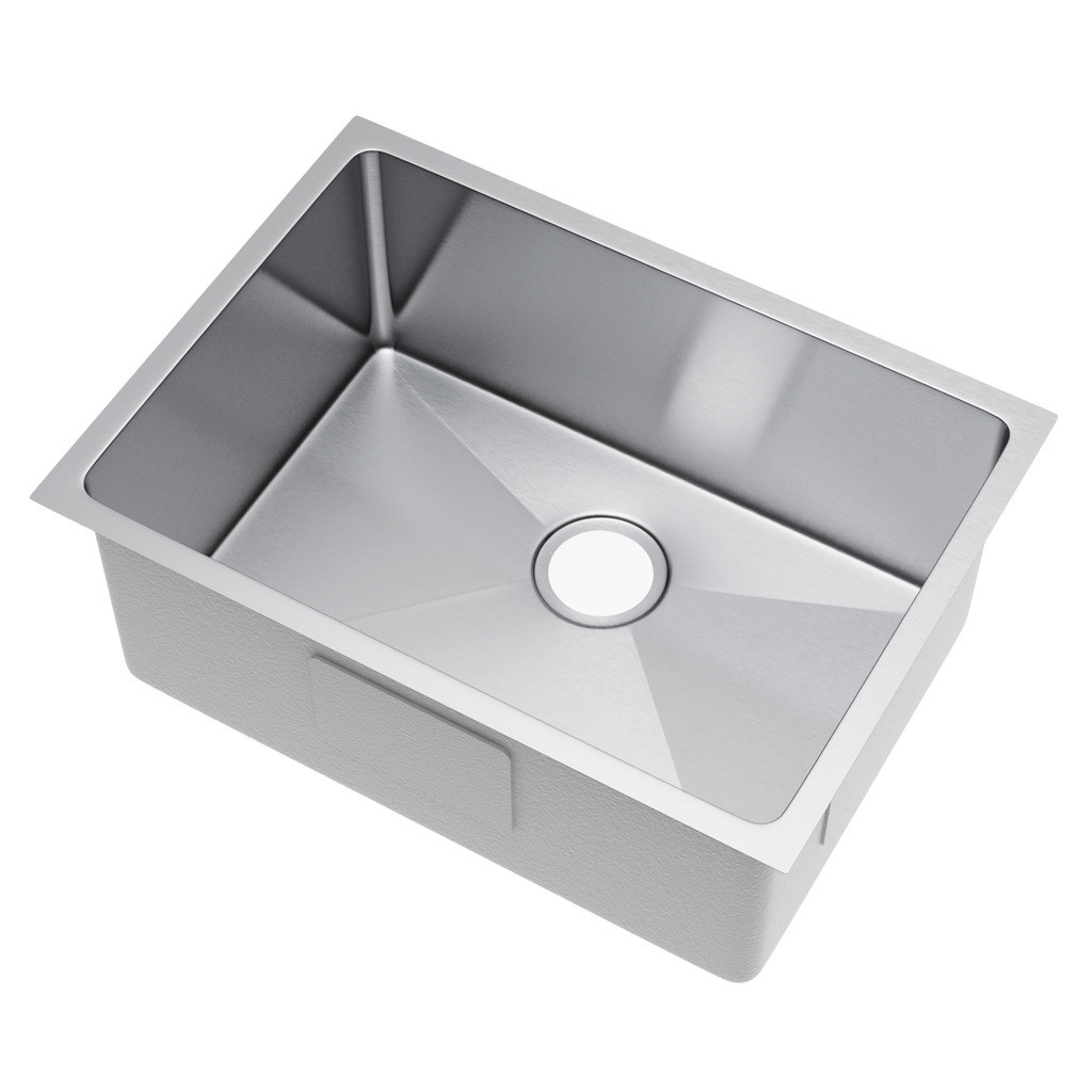 Exclusive Heritage KSH-2518-S-UB Single Bowl Stainless Steel Kitchen Sink