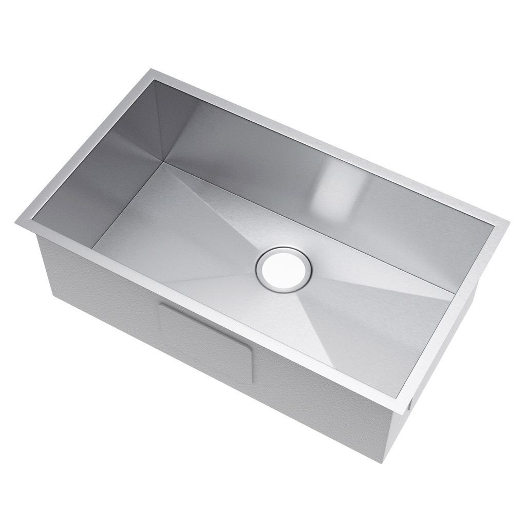 Exclusive Heritage KSH-2918-S-UA Single Bowl Stainless Steel Kitchen Sink