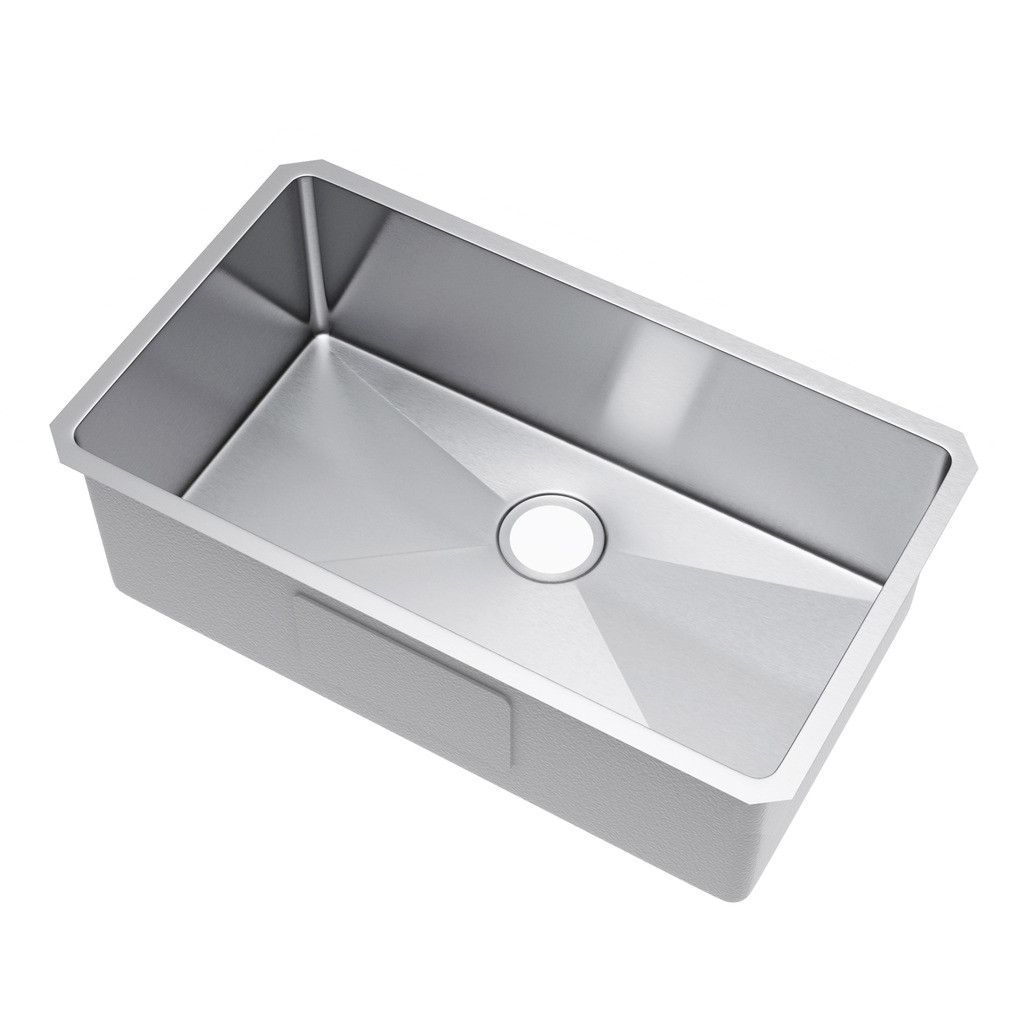 Exclusive Heritage KSH-2918-S-UB Single Undermount Stainless Kitchen Sink
