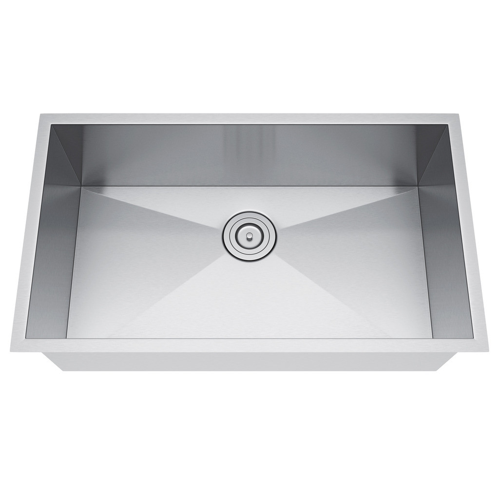 Exclusive Heritage KSH-3019-S-UAS Stainless Steel Kitchen Sink w/ Strainer