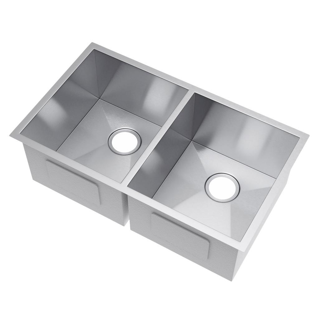 Exclusive Heritage KSH-3118-D5-UA 50/50 Undermount Stainless Kitchen Sink