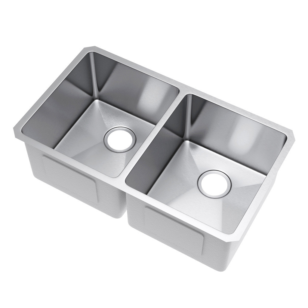 Exclusive Heritage KSH-3118-D5-UB Double 50/50 Stainless Steel Kitchen Sink