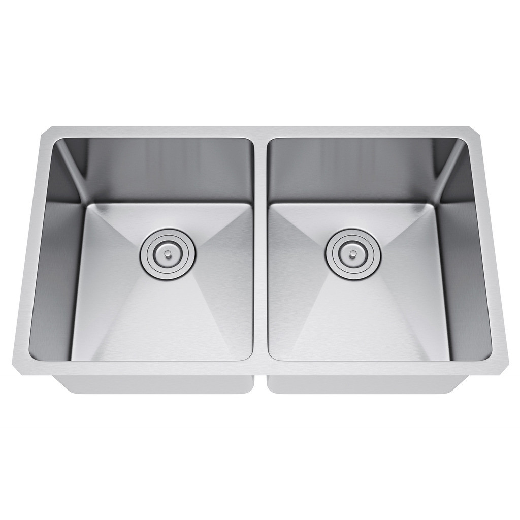 Exclusive Heritage KSH-3118-D5-UBS Double Stainless Kitchen Sink & Strainer