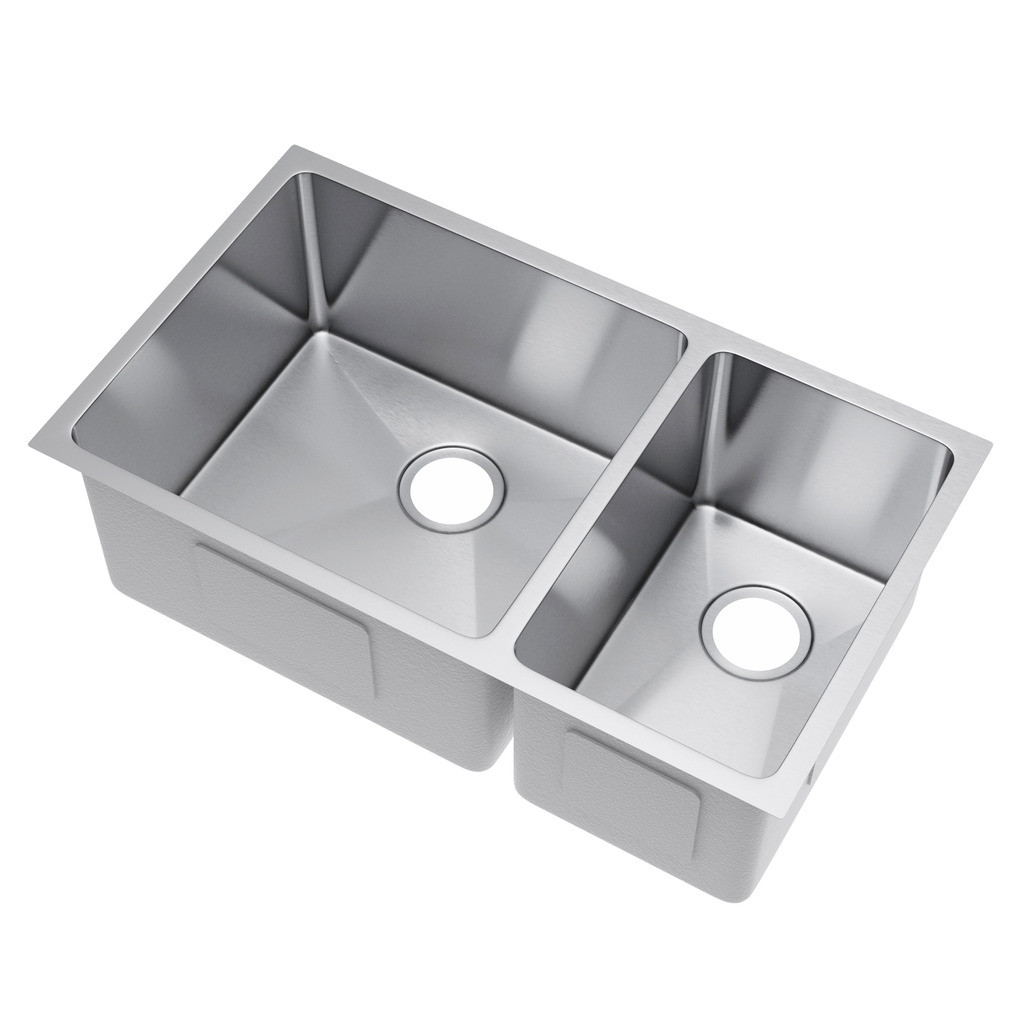 Exclusive Heritage KSH-3118-D7-UB Double Undermount Stainless Kitchen Sink