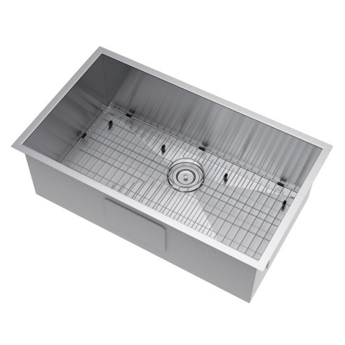 Exclusive Heritage KSH-3319-S-UASG Single Kitchen Sink w/ Strainer and Grid