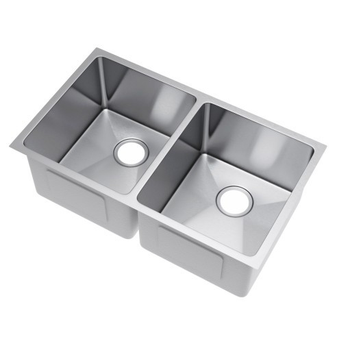 Exclusive Heritage KSH-3320-D5-UB 50/50 Undermount Stainless Kitchen Sink