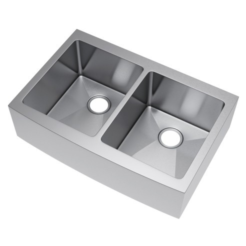 Exclusive Heritage KSH-3322-D5-FB Double 50/50 Stainless Kitchen Farm Sink