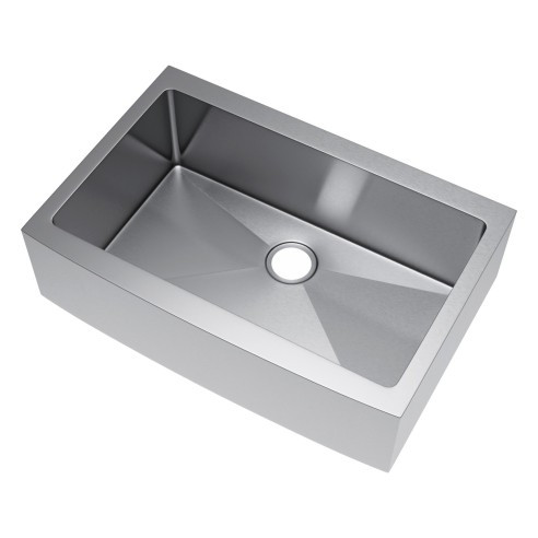 Exclusive Heritage KSH-3322-S-FB Single Stainless Kitchen Apron Front Sink