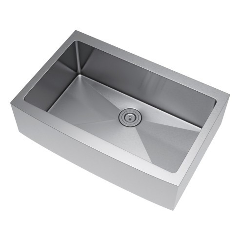 Exclusive Heritage KSH-3322-S-FBS Single Stainless Farm Sink with Strainer