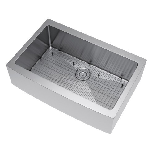 Exclusive Heritage KSH-3322-S-FBSG Apron Front Sink with Strainer and Grid