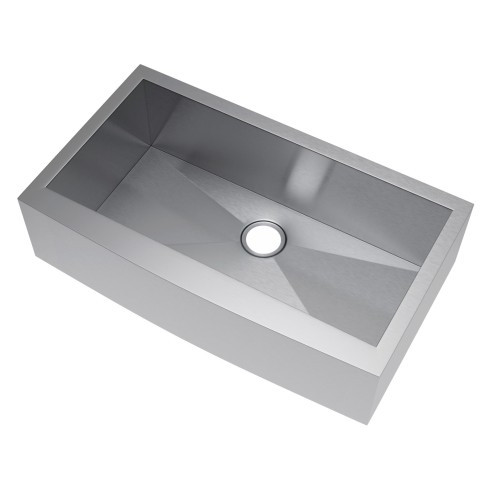 Exclusive Heritage KSH-3621-S-FA Single Stainless Kitchen Apron Front Sink