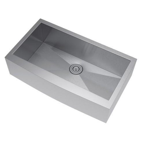 Exclusive Heritage KSH-3621-S-FAS Kitchen Apron Front Sink with Strainer