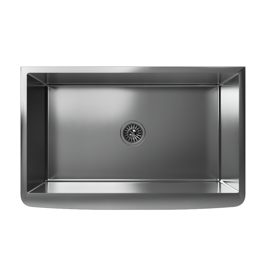 Cantrio Koncepts KSS-001 Stainless Steel Apron Front Sink
