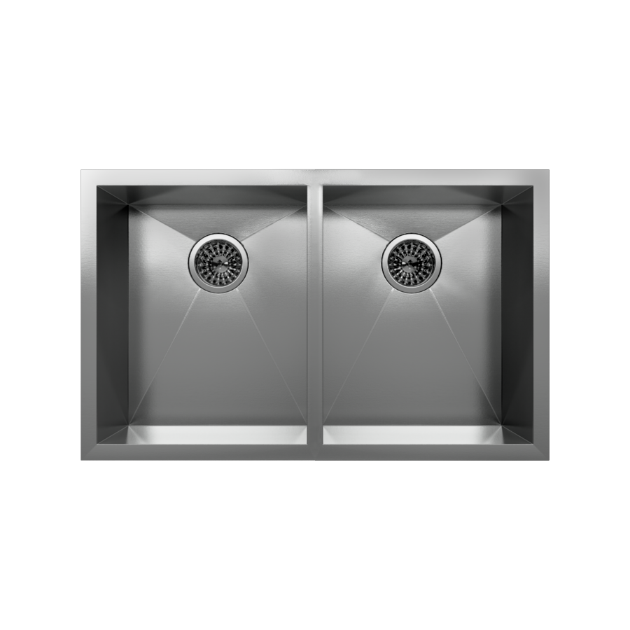 Cantrio Koncepts KSS-002 Undermount Two bowl Stainless steel Kitchen Sink